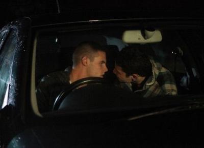 adam thomas gay or straight - near gay kiss