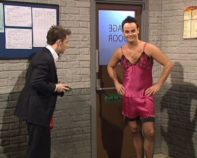 anthony mcpartlin wearing womens lingerie dress
