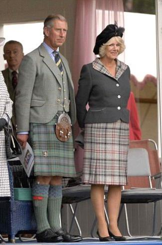 famous girls wearing kilt - camilla duchess of cornwall