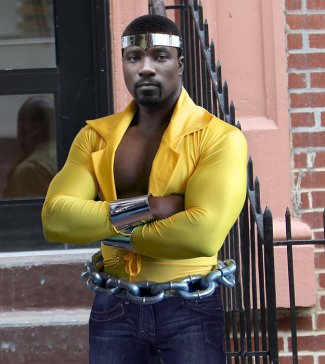luke cage yellow shirt - fan generated - mike colter