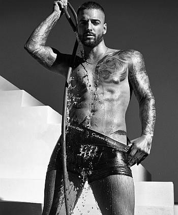 maluma underwear photo - calvin klein shower2