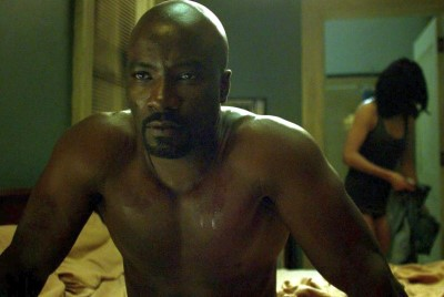 mike colter shirtless body luke cage
