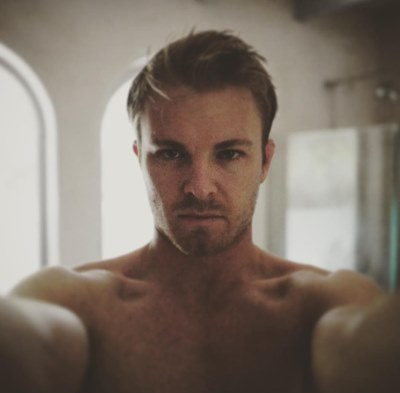 nico rosberg shirtless - looks like Ryan Reynolds