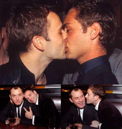 jonny lee miller gay kiss with jude law