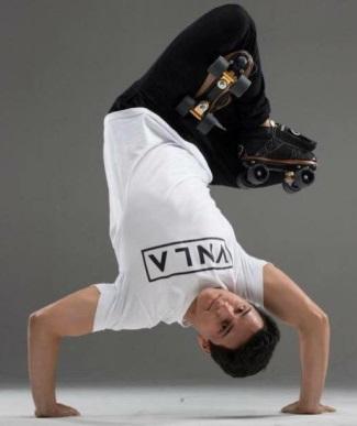 brandon perea breakdancer roller skater