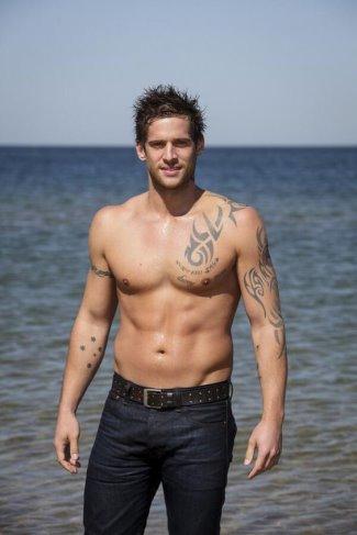 dan ewing shirtless - hot guy in jeans