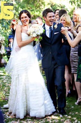 dave annable wedding wife odette yustman