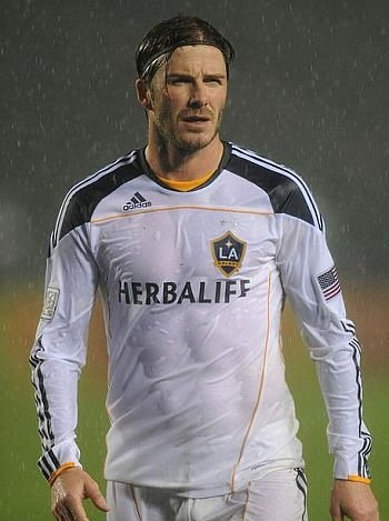 footballers in wet shirt - david beckham