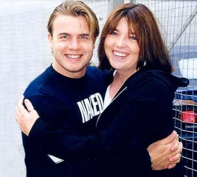 gary barlow 1990s with fan claire blake