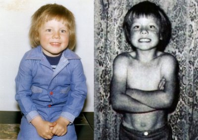 gary barlow as a baby and as a 6 year old boy