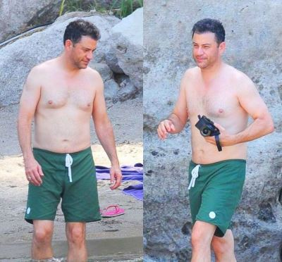 jimmy kimmel shirtless sexy dad bod