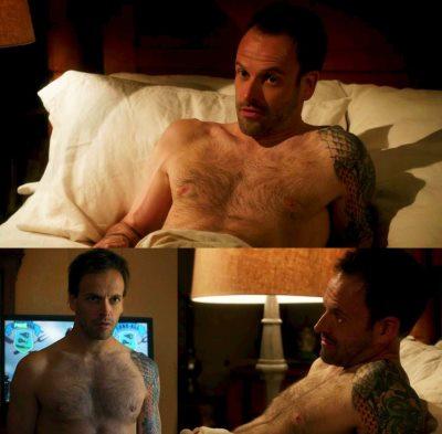 jonny lee miller shirtless hairy chest