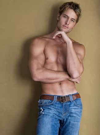 justin hartley shirtless in jeans