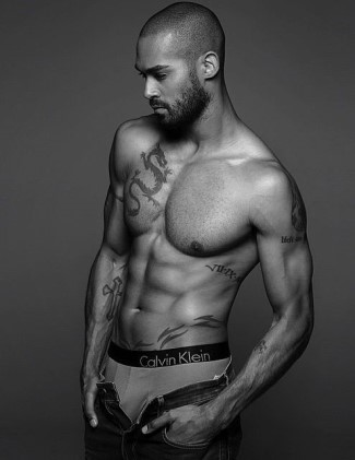 lamon archey underwear model - calvin klein