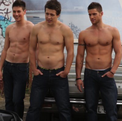 lincoln younes steve peacock dan ewing shirtless in jeans