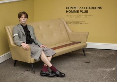 charlie heaton model - men in skirt