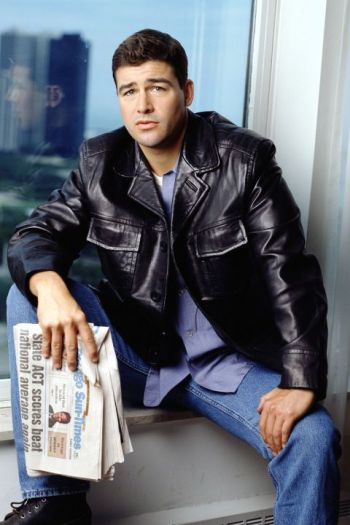 kyle chandler early edition leather jacket