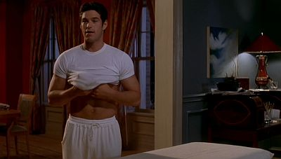 eddie cibrian young masseur in living out loud 1998