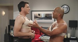 men wearing bras - Ben Koldyke Amaury Nolasco - work it sitcom