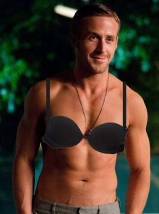 men wearing bras ryan gosling