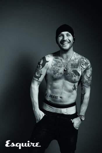 tom hardy underwear peekabo esquire magazine