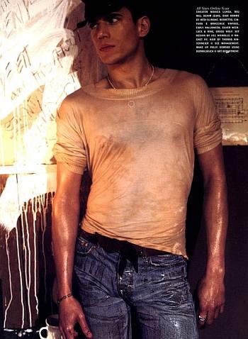 wentworth miller hot body hugging shirt