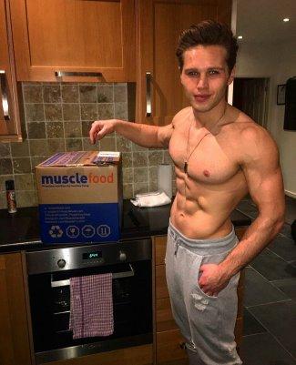 Danny Walters shirtless washboard abs