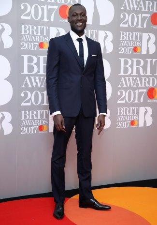 are skinny ties still in 2017 - stormzy - brit awards