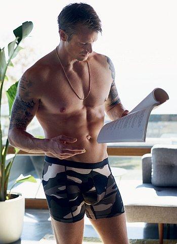 bjorn borg male underwear models - joel kinnaman - camo underwear