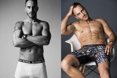 celebrities wearing bjorn borg underwear faf du plessis