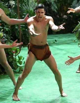darren criss loincloth - glee underwear