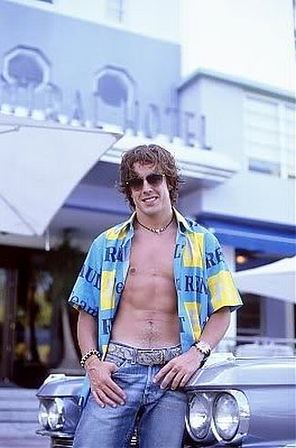 fernando alonso shirtless male model pose