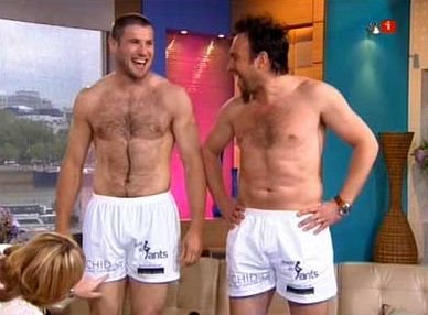 men in boxer shorts underwear - ben cohen and jason cundy
