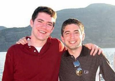 gay hockey players brendan burke - left - with bro patrick burke