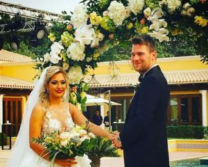 basshunter wedding photo with wife tina
