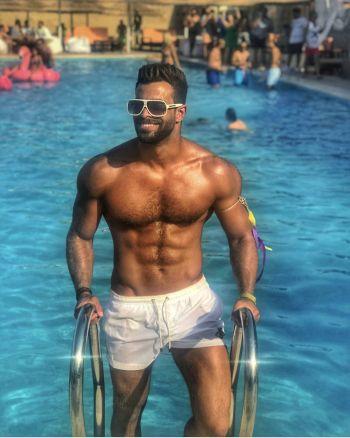 hot arab men swimsuit - Tarek Naguib