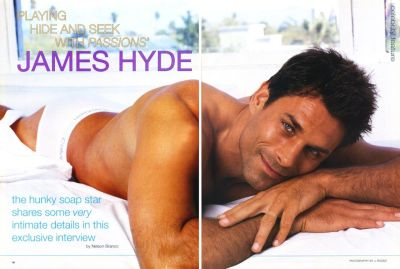 james hyde shirtless and underwear - playgirl