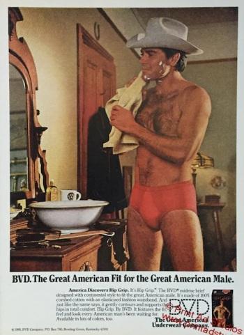 best red underwear for men vintage bvd