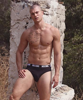 moschino male underwear models - Brandon Good2