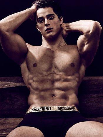 moschino mens underwear model - pierto boselli
