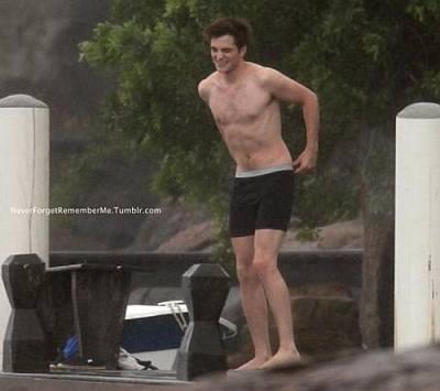 robert pattinson underwear as swimwear - hanes