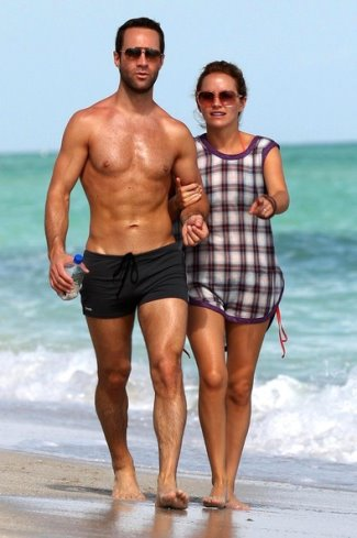Chris Diamantopoulos underwear Swim Briefs with becki newton