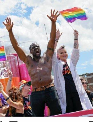 Gbenga Akinnagbe gay pride