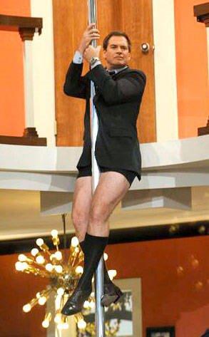 Michael Weatherly underwear pole dancer bonnie hunt show