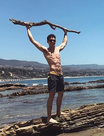 sam vartholomeos shirtless beach