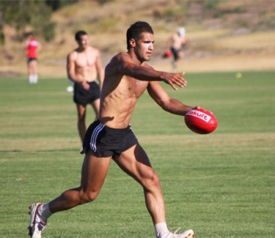 Bachar Houli shirtless body