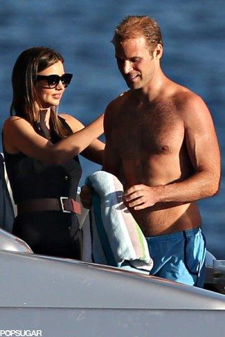 Charlie Goldsmith shirtless with miranda kerr