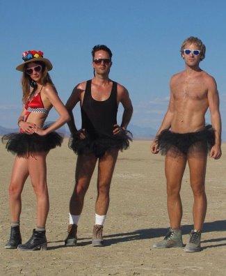 Charlie Goldsmith underwear tutu - 2014 burning man
