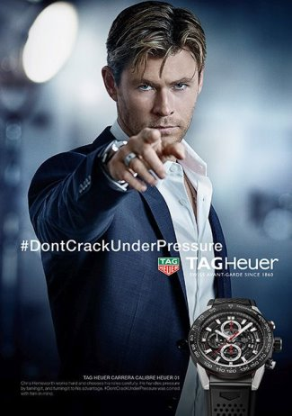 Chris Hemsworth TAG Heuer dont crack under pressure - calibre heuer 01