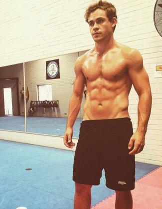 Dacre Montgomery gay shirtless
